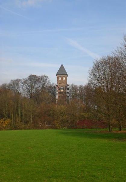 Wasserturm  mit Gerüst